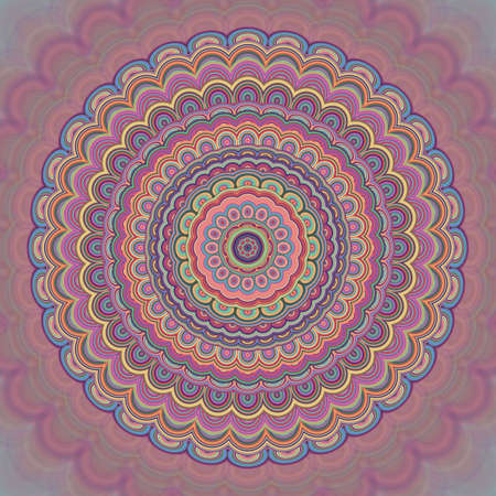 Psychedelic bohemian mandala ornament. Illustration