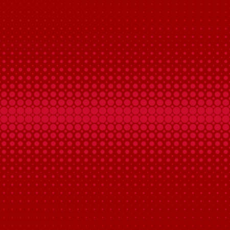 polkadot: Red retro abstract halftone dot pattern background - vector design from circles in varying sizes