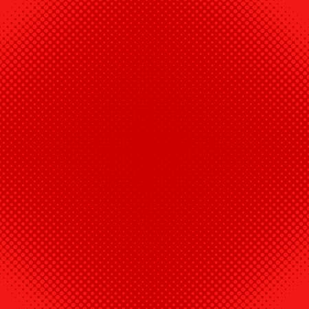 polkadot: Red abstract halftone dot pattern background - vector design from circles in varying sizes
