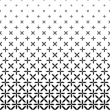 Monochrome abstract ellipse pattern background - black and white geometrical halftone vector graphic Illustration