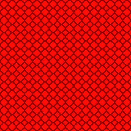 Red abstract rounded square with grid pattern.