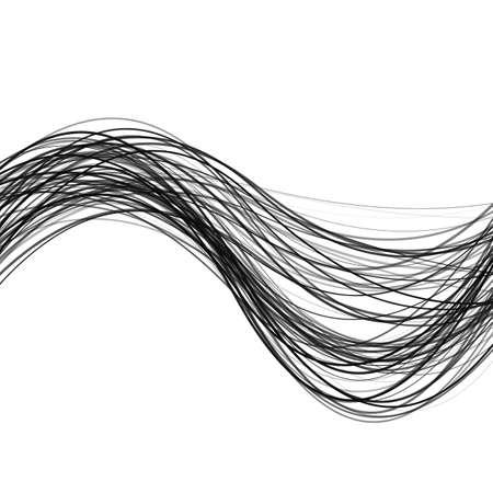 Abstrakter dynamischer Wellenstreifenhintergrund - entwerfen Sie von den gekrümmten Linien Standard-Bild - 88217972