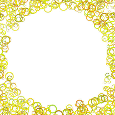 Modern chaotic circle background. Trendy vector design from colored yellow toned with shadow effects. Illustration