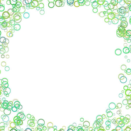 Trendy vector graphic design from green rings on white background.