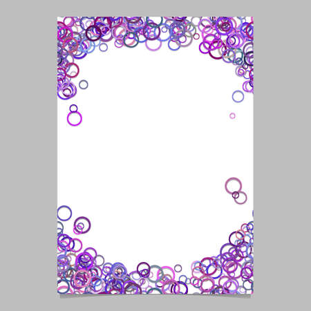 Abstract random circle pattern cover template 向量圖像