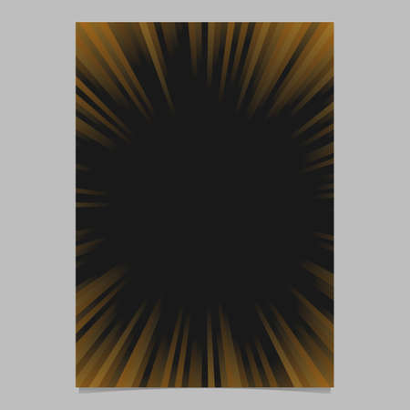 Gradient abstract ray burst page template. A vector brochure, stationery background graphic design with radial stripe pattern. Illustration