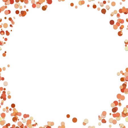 Color chaotic dot background - vector illustration from circles on white background
