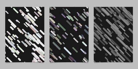 현대 원활한 혼란 둥근 대각선 줄무늬 배경 무늬 카드 배경 템플릿 집합 - 벡터 브로셔 디자인