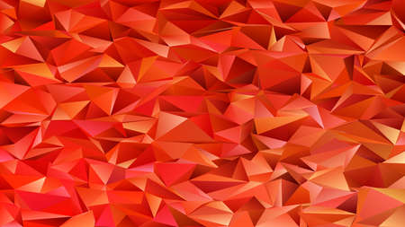 Geometrical abstract chaotic triangle pattern background - mosaic vector graphic from triangles in red tones  イラスト・ベクター素材