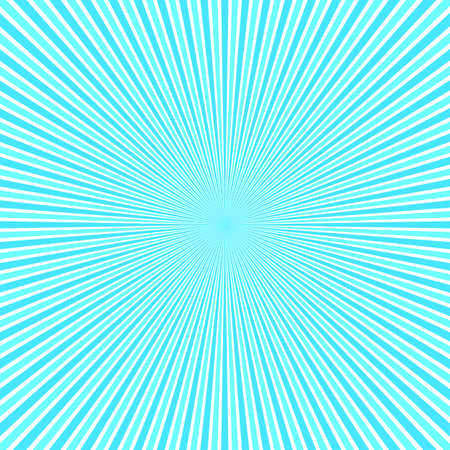 Light blue abstract ray burst background - motion vector graphic design from striped rays