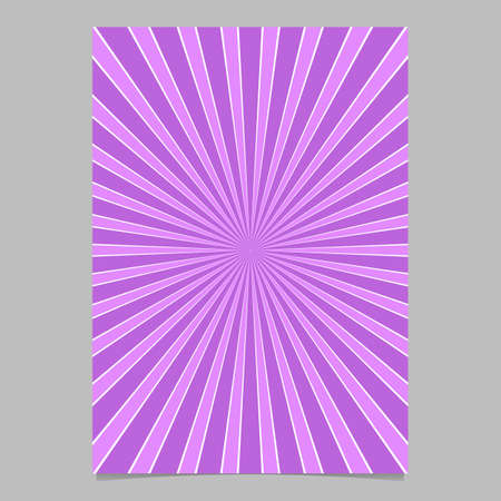 Abstract ray burst stationery background template - vector document background illustration with radial stripe pattern