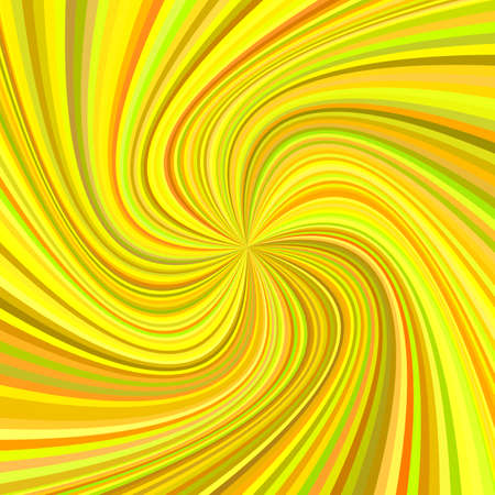 Geometric swirl background - vector illustration from rotated rays in golden colorful tones