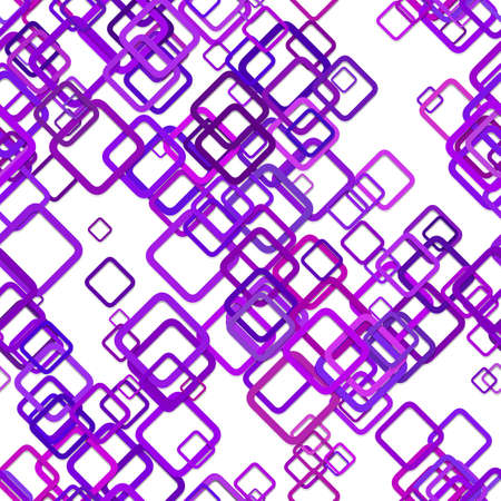 Seamless abstract geometrical square background pattern - vector illustration from diagonal squares in purple tones with shadow effect