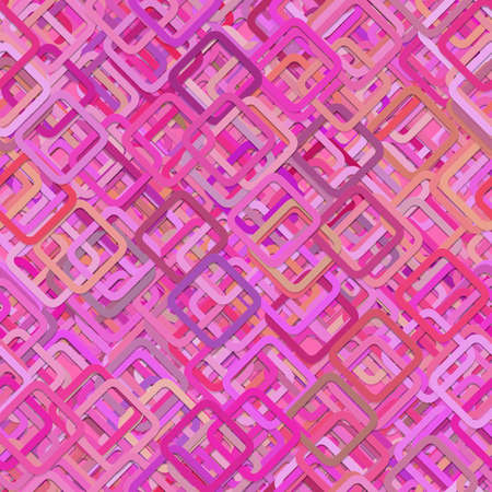 Seamless abstract geometric square pattern background - vector illustration from diagonal squares in pink tones Illustration
