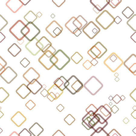 Seamless geometrical square pattern background - vector graphic design from random diagonal squares with opacity effect Stock Photo