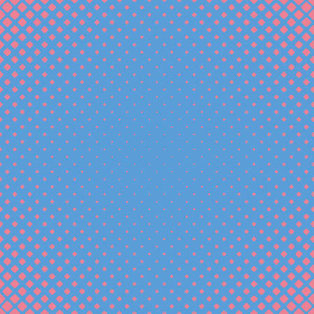 Geometric abstract halftone rounded square pattern background - vector graphic with diagonal squares