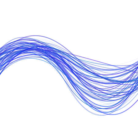 Dynamic wave line background design - illustration from curved stripes in blue tones Stock Photo
