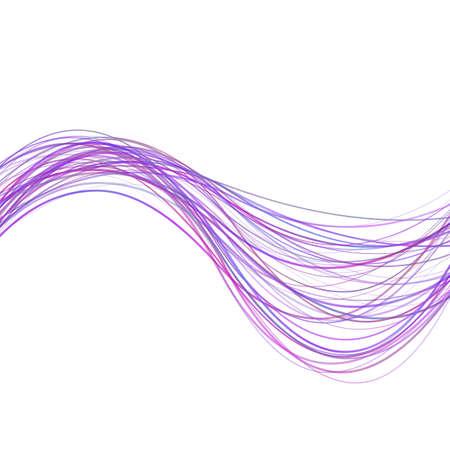 Dynamischer abstrakter Wellenstreifenhintergrund - Illustration von den purpurroten farbigen gekrümmten Linien Standard-Bild - 90741233
