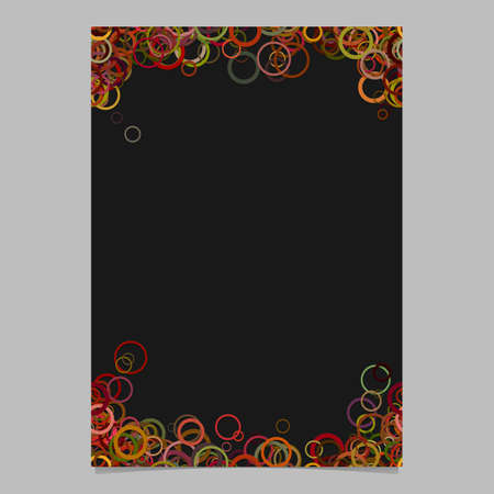 Color random circle pattern flyer template - trendy vector brochure background graphic design Stock Photo