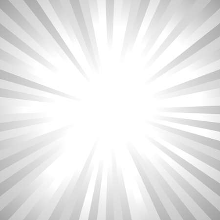 Grey abstract sun rays background - gradient vector graphic design with radial ray stripes