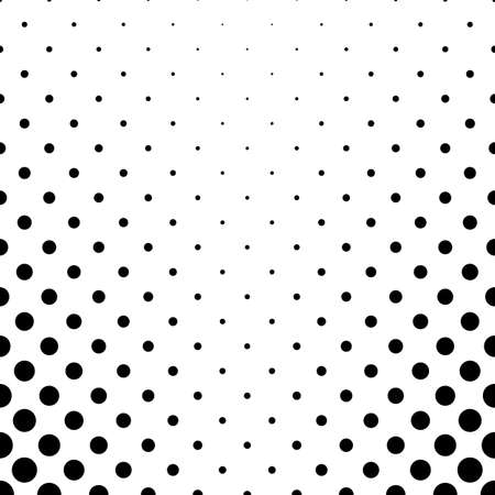 Abstract black and white dot pattern - geometric simple vector background graphic design from circles