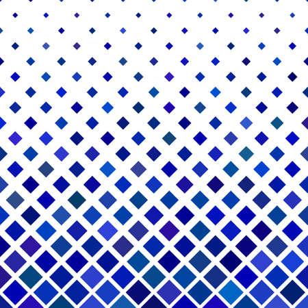 Blue abstract square pattern background - geometric vector illustration from diagonal squares Ilustração