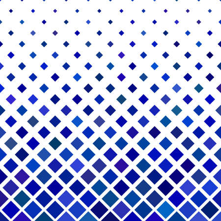 Blue abstract square pattern background - geometric vector illustration from diagonal squares Vettoriali