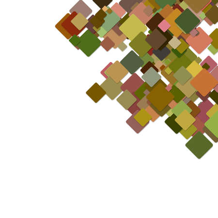 Abstract colorful technology concept background from diagonal rounded squares with shadows - vector graphic Illustration