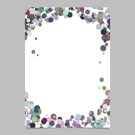 抽象的なランダムドットデザインページテンプレート - 白い背景にカラフルな円を持つトレンディなベクトルブランクポスターボーダーグラフィッ