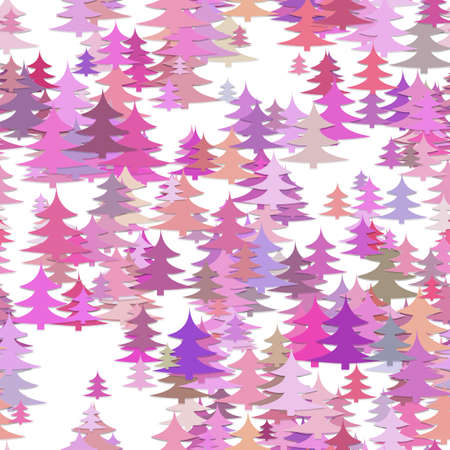 Seamless abstract chaotic pine tree background - holiday vector decoration graphic design 向量圖像