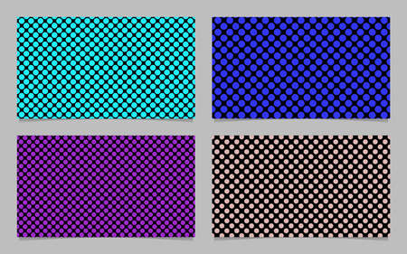 Modern polka dot business card background set - vector company design with colored circles