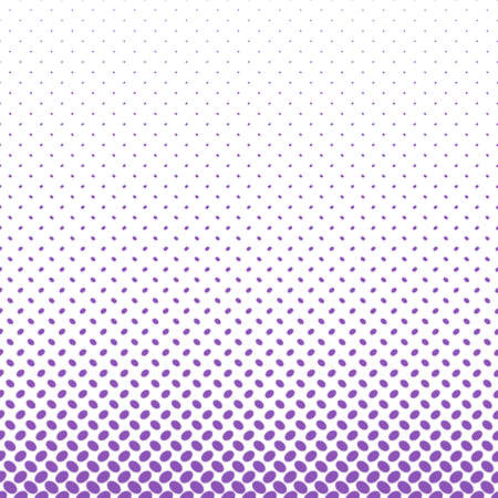 Geometrical halftone ellipse pattern background - vector graphic from purple diagonal elliptical dots on white background