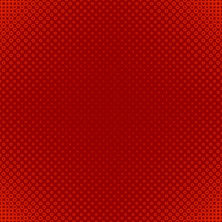 Red geometric halftone circle pattern background - vector graphic design from rings in varying sizes