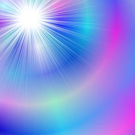 Abstract blurred gradient sunshine background - summer vector graphic design