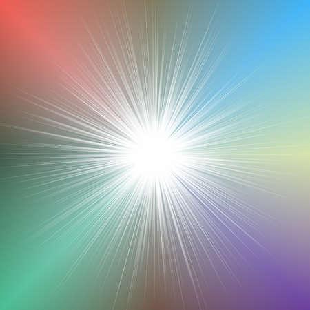 Abstract blurred star burst background design - vector illustration