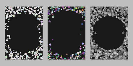 Abstract colored brochure template background set with dots