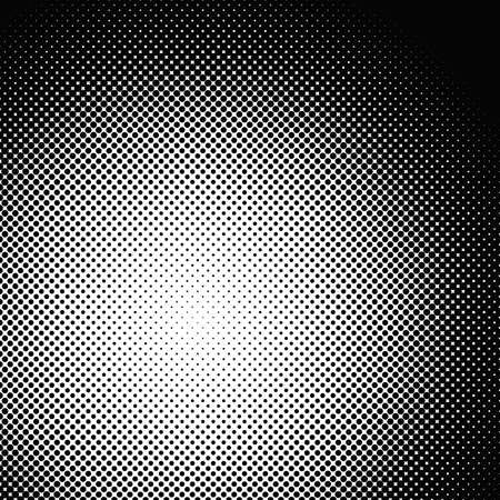 Geometric abstract halftone circle pattern background - vector design from dots Illustration