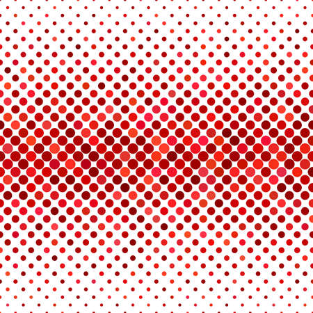 Colored dot pattern background - geometric vector graphic design from circles in red tones Ilustração