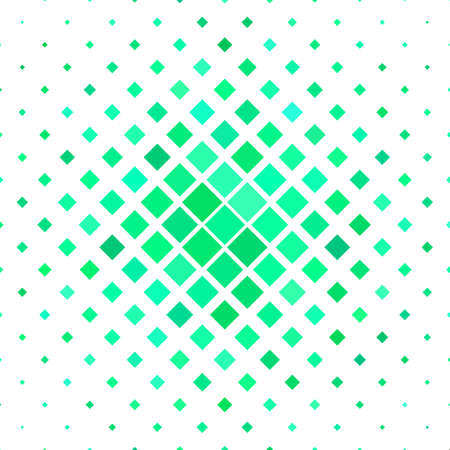 Color square pattern background - geometric vector design from diagonal squares in green tones Illustration