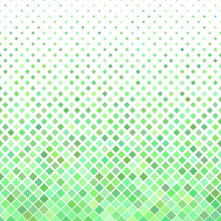 Résumé fond carré diagonale - graphique vectoriel géométrique à partir de carrés dans des tons verts Vecteurs