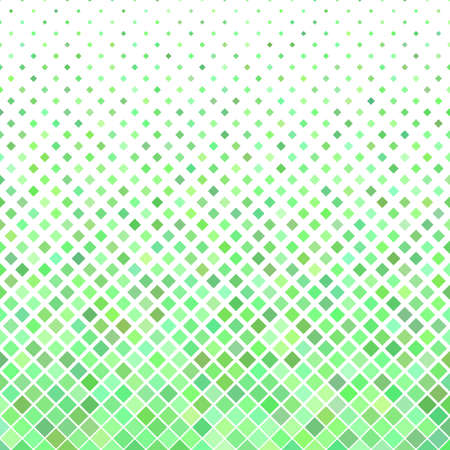 Abstract diagonal square pattern background - geometrical vector graphic from squares in green tones