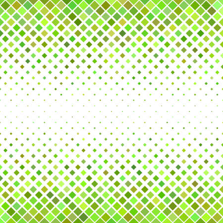 Abstract diagonal square pattern background - geometric vector graphic design from green squares