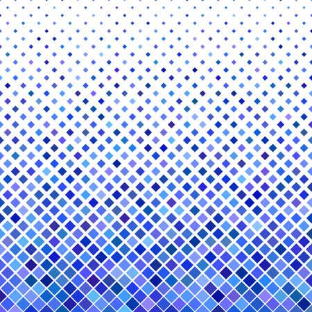Ejemplo cuadrado geométrico coloreado del vector del diseño del fondo del modelo de cuadrados diagonales en tonos azules.