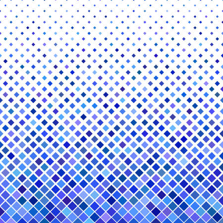 Colored square pattern background design geometric vector illustration from diagonal squares in blue tones.