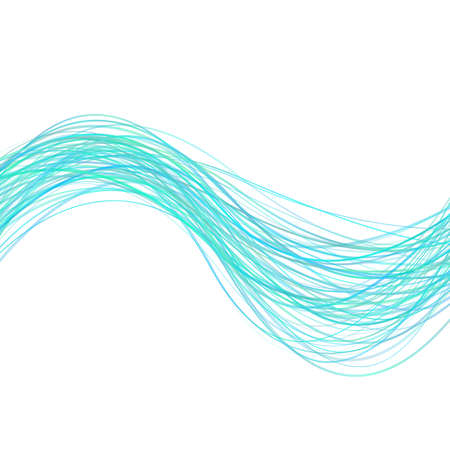 Abstract modern wavy stripe background -  graphic design from light blue curved wave lines
