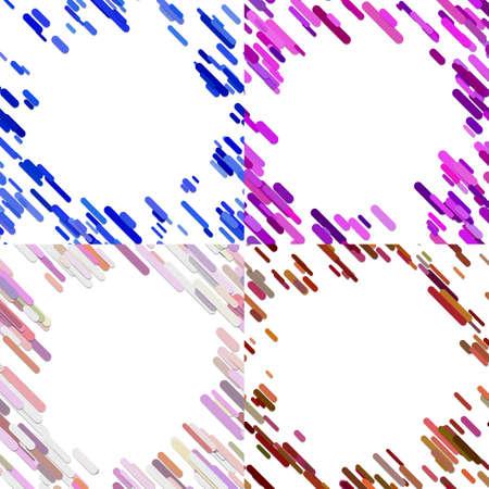 Colorful random diagonal stripe pattern background template set