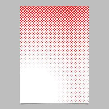 Geometrical abstract halftone dot pattern background page template