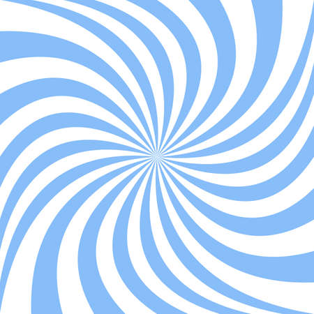 Spiral design background from light blue rays