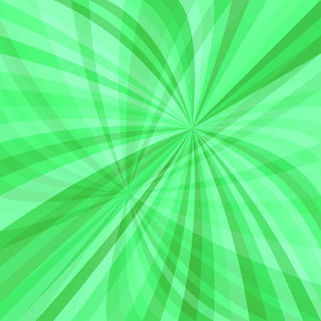 Green abstract dynamic background - vector design from curved ray stripes Illustration