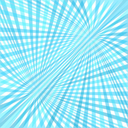 Curved ray burst background - vector graphic design from swirling rays in light blue tones